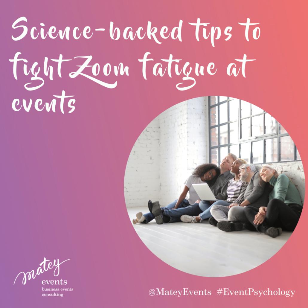 zoom fatigue online event